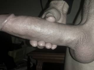 """Maximum girth at 6.25"""" around. Oh how I love slowly pressing this monumental meat into a tight, wet, swollen and sensitive pussy!"""