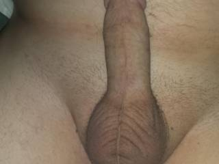 Vary nice I would love to play with your cock then ride it I really like your cock and balls.