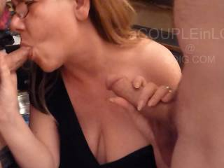 Mr Daveer999 got a little more than expected but he sure enjoyed my welcoming lips and tongue around his cock. It was so much fun sucking him and hubby, now I want more cock - Any offers?...The video was filmed by Mrs Daveer999 x