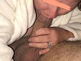 Wife sucking her friends cock