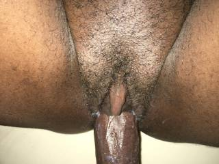 Love when she gets my cock wet with cum... her clit always gets so hard when I'm inside