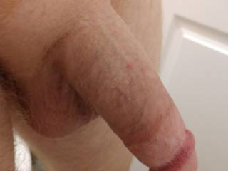 Woke up with my cock hanging nicely