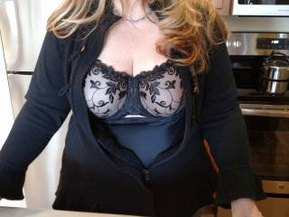 Getting ready to go out and she\'s wondering how much to cover up??:)