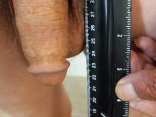 Actual soft cock hang length with balls