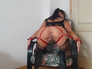 A slave to the chair!