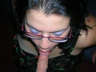 Sexy as hell!! Delicious looking cock, Beautiful lady and gorgeous make up! Thats top marks from us both! Stunning! xxx