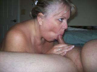 Mrs Daytonohfun from here on zoig enjoying my cock before her hubby and the other guy show up to help me fuck her