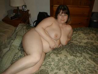 my sexy wife on the bed ready to fuck
