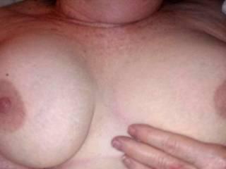 Nice big soft GILF tits.