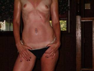 Wow  Gorgeous body  Love the tan lines