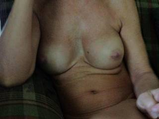 Can I rub my cock on your nipples and cum all over them