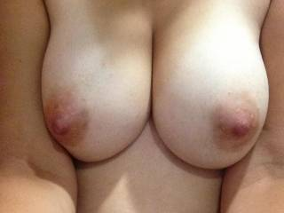 How do you like a titty fuck - because your boobs look absolutely perfect for that! My cock just screams for a fuck between them and then to explode right there...