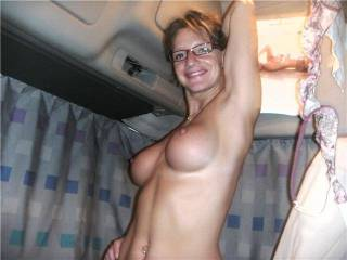 mmm this is how i want you to look on top of me. arched back shoving those big perky tits in my face, smile on yours from feeling this big cock go soo deep