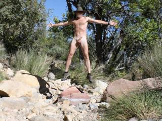 This will be my last Nude Hike of this year. I was in an over the top exhibitionist mood today so I had some fun. I decided to take a dare I received the other day and strip and lock my clothes inside my car and remain nude during my entire hike only bein