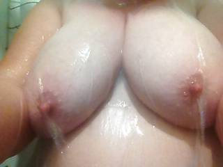 Nothing like hard nipples in the shower