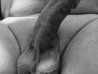 Zoom on my hard dick outside
