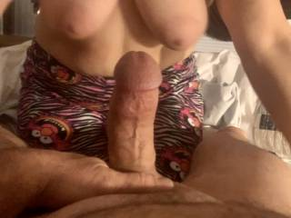 My throbbing  hard cock with a great view
