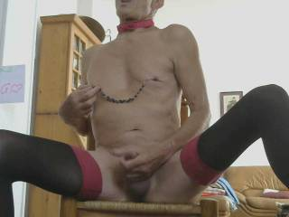 Slutty male bitch wide spread to be fucked