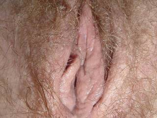 Wife\'s lovely pussy, very wet and ready.