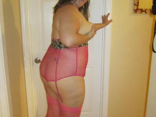 you look so fucking hot in that sexy pink lingerie
