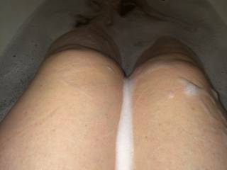 ALWAYS with you...and happy to take the tap end if it means I get to have those sexy soapy soles on me...Gorgeous pic! :)