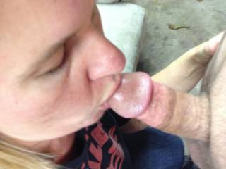 so incredibly sexy to see you work on his cock, especially the way you focus on the head.