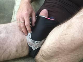 black silk panties