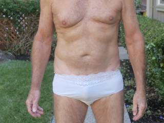 """Is Mr. F's bulge in my panties less evident when he's in the """"up"""" position?  From Mrs. Floridaman"""