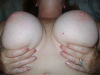 Anyone want to hold them for me!  For all you boob men!