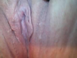 Freshly shaved pussy