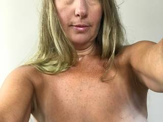 Took a selfie before going out to lay by the pool. How do my tits look?