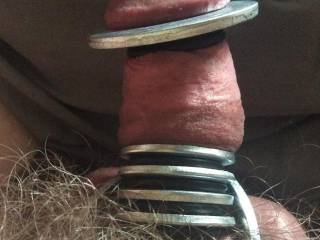 Cock with metal cock rings