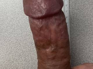 My cock feeling very thick and veiny here. Ladies want to slide it in your wets pussies?