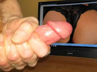 Stroking my hard cock to PublicSex202\'s Sweet panty ass! ! She gonna make me cum for sure! Love to rub my hard cock all over her ass!!