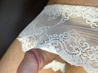 In my wifes\' new panties