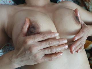 My boobs all for you to suck,lick,kiss,bite,squeeze and hard fuck !!! Please ???