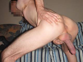 My shaved ass and hard cock