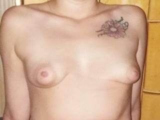Blonde has small boobs big nipples
