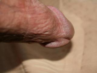 A closeup pic under my shaft and swollen cock head, very close to cumming now!!!