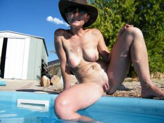 Awesome body babe. You are a complete package. Damn, but I'd be a soft lipped snapper in that pool of yours. ;-))