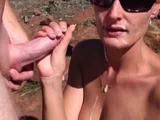 Sweet. I've spent half my adult life naked and outdoors and I LOVE seeing others enjoying it as well. You two are really fucking hot.