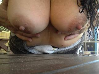 I prefer them to be in my hands as I am giving that wet pussy a good pounding from behind