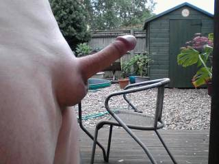 This time shaven and erect in my garden. Lets hope the neighbours can see.