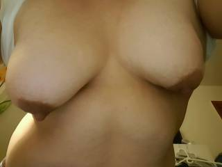 love sucking on her tits. who wants to join me