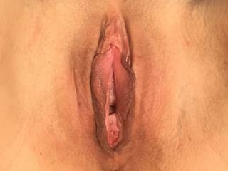 Shaved and open. Ready to be licked and fucked hard. Any ideas?
