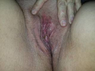 clean up time on this pussy filled with warm cum