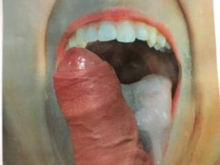 DANBRZ5 GOT IN TOUCH AND DARED ME TO PUT MY COCK ON HER PHOTO WHIKE I WAS AT WORK!!  Well that did it - I took an outrageous risk doing there pix and Cumming for her........