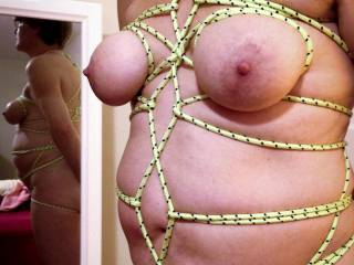 tied torso with reflection