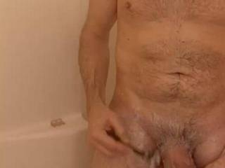 Just shaving my cock; getting ready to fuck