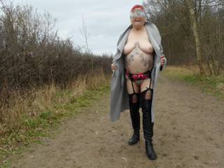 hi all just taking a little exercise in the forest, dirty comments welcome mature couple